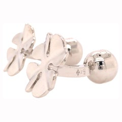 Cartier Four Leaf Clover Cuff Links in Sterling Silver