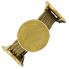 Cartier Four Twenty Dollars Gold Coins Bracelet