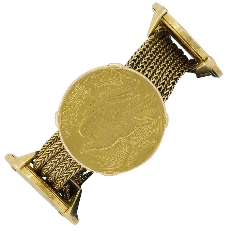 Cartier Four Twenty Dollars Gold Coins Bracelet For Sale