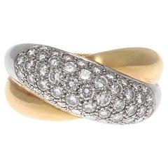 Cartier France Diamond Platinum Ring