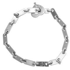 Cartier France Heart Clasp Gold Link Bracelet