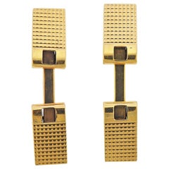 Cartier France Midcentury Gold Cufflinks