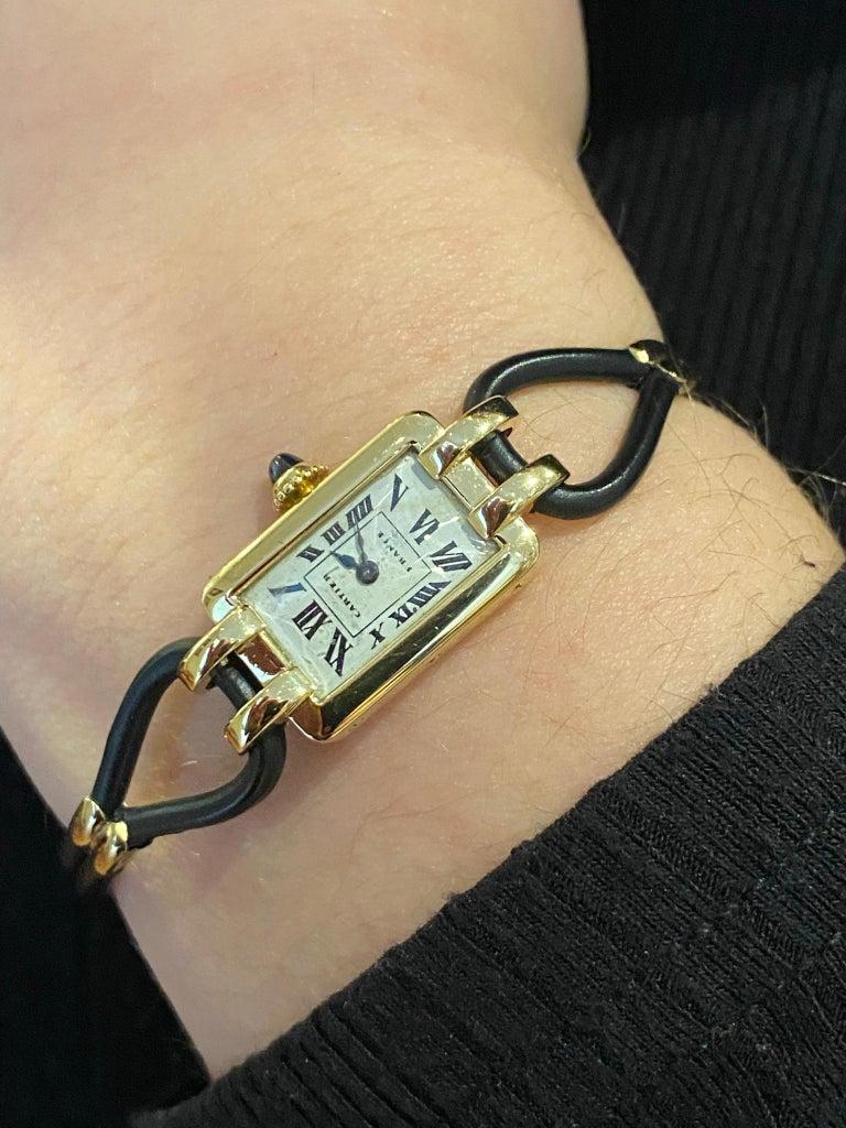 Cartier France, Yellow Gold Ladies Wristwatch, 1930s Art Deco Eur Watch & Co For Sale 6