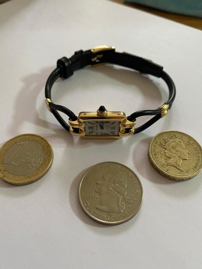 Cartier France, Yellow Gold Ladies Wristwatch, 1930s Art Deco Eur Watch & Co For Sale 7