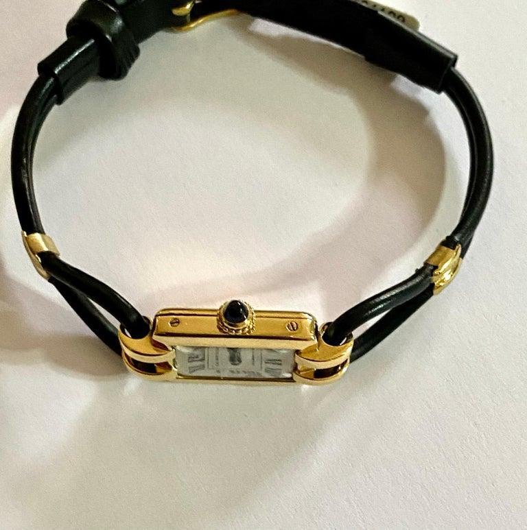 Cartier France, Yellow Gold Ladies Wristwatch, 1930s Art Deco Eur Watch & Co For Sale 1