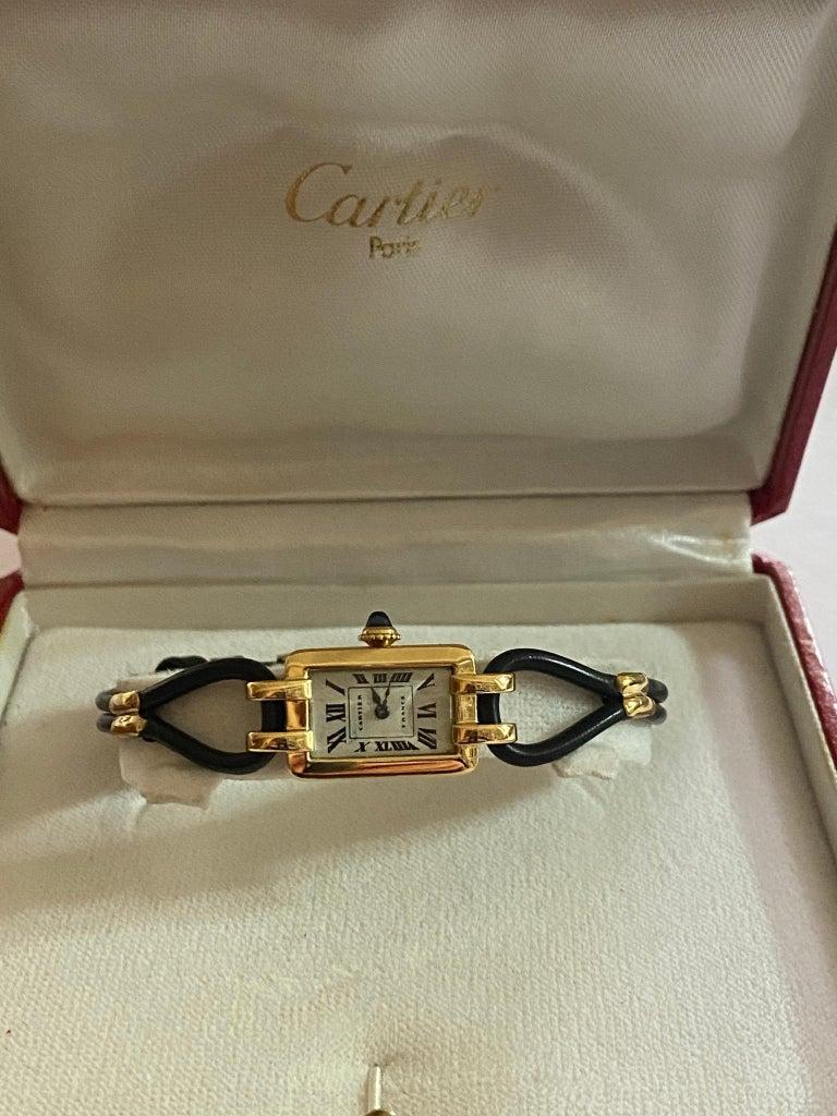 Cartier France, Yellow Gold Ladies Wristwatch, 1930s Art Deco Eur Watch & Co For Sale 4