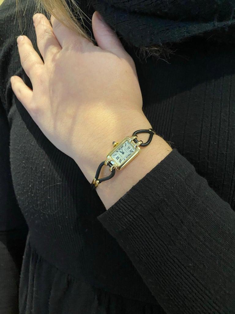 Cartier France, Yellow Gold Ladies Wristwatch, 1930s Art Deco Eur Watch & Co For Sale 5