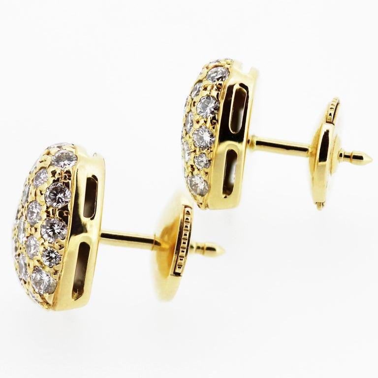 Women's Cartier Diamond Love Heart Earrings and Ring in 18 Karat Gold For Sale