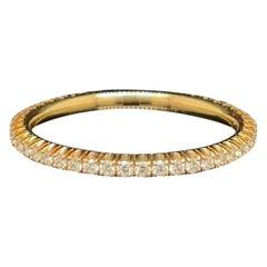 Cartier Full Diamond Eternity Ring, 18 Karat Yellow Gold