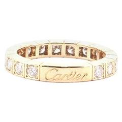 Cartier Full Laniere Band Ring 18 Karat Yellow Gold and Diamonds