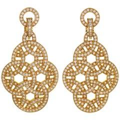 Cartier Galanterie Paris Nouvelle Vague Diamond Rose Gold Earrings