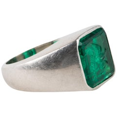 Cartier Gem Emerald Bird Ring