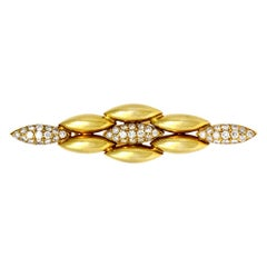 Cartier Gentiane Diamond Brooch or Pin 18 Karat