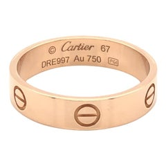 Cartier Gents Pink Gold Love Ring