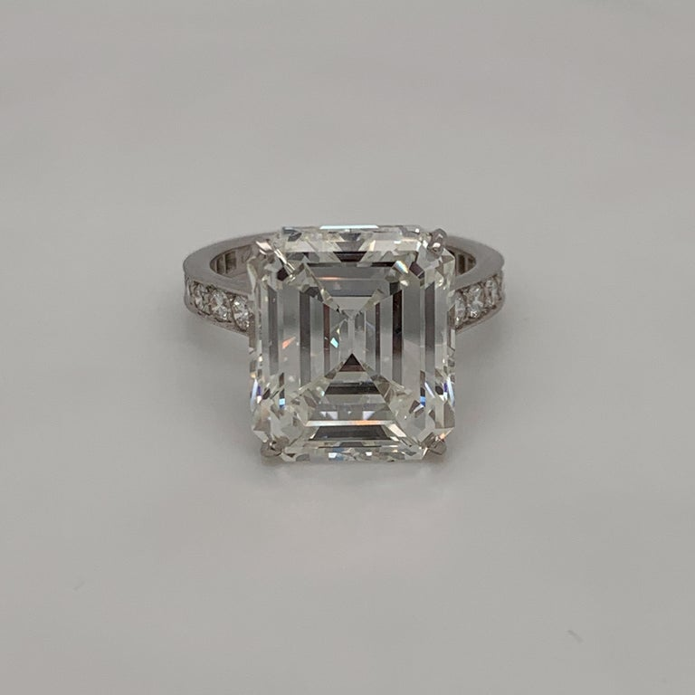 Leave it to Cartier to create one of the most beautiful rings. This ring features an incredible GIA certified 10.29 carat emerald cut diamond. I color VS1 clarity. The diamond is of beautiful make and is as full of life and luster as a gemstone can