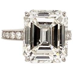 Cartier GIA Certified 10.29 Carat Emerald Cut Diamond Ring