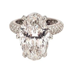 Cartier GIA Certified 8.48 Carat Oval Shape Diamond Ring