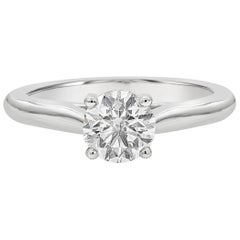 Cartier GIA Certified Round Diamond Solitaire 1895 Engagement Ring