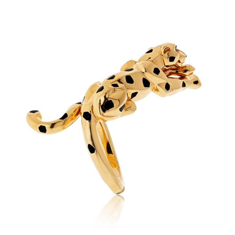 In 2014 the Cartier Panther celebrates a century of life with a new collection of Cartier jewelry. To mark Panthere's anniversary, Cartier has created an entire collection of fine jewelry dedicated to this most beautiful big cat.  Here is a very