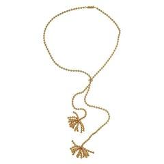 Cartier Gold 18 Karat Rose Paris Nouvelle Vague Diamond Necklace