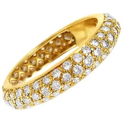 Cartier French Diamond Pavé Yellow Gold Eternity Ring