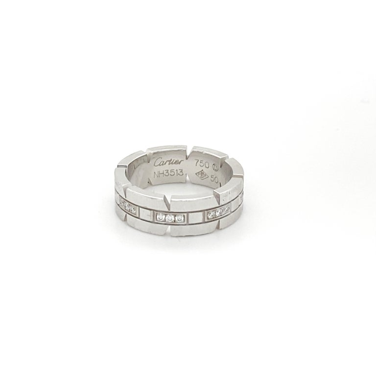 Cartier Gold and Diamond Ring Size 5.5 In Excellent Condition For Sale In Carlsbad, CA