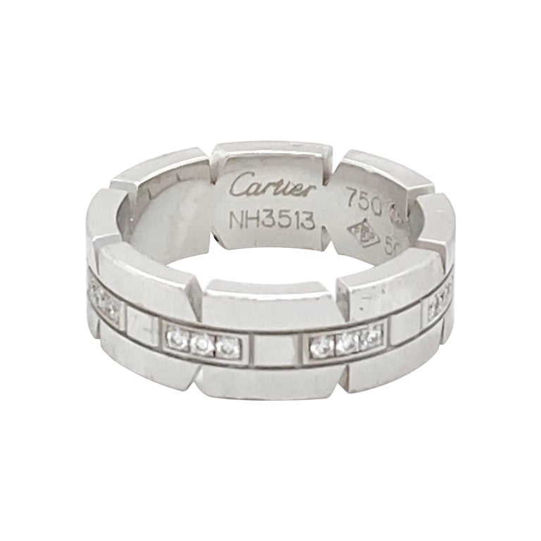 Cartier Gold and Diamond Ring Size 5.5 For Sale