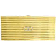 Cartier Gold and Diamond Vanity Case