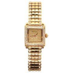 Cartier Gold and Diamond Watch