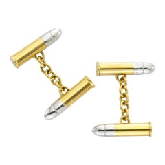 Cartier Gold Bullet Shape Cuff links