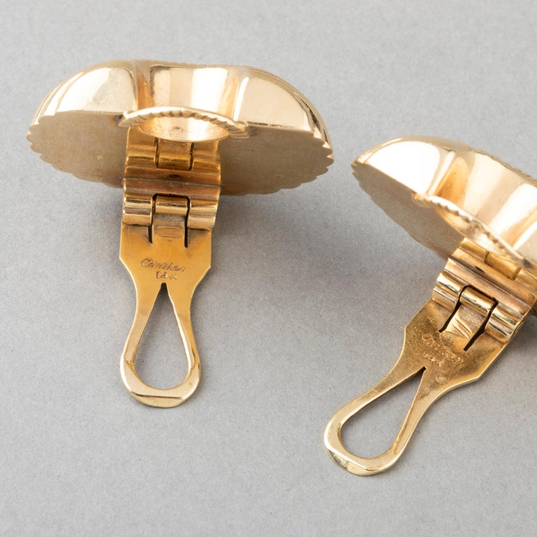Cartier Gold Clip Earrings For Sale 1