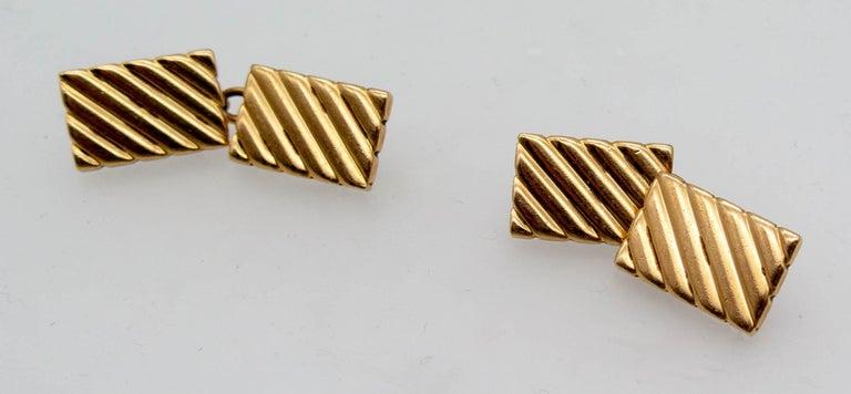 Modernist Cartier Gold Cufflinks For Sale