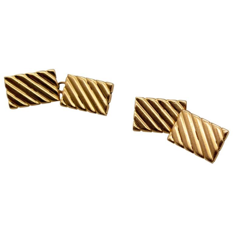 Cartier Gold Cufflinks For Sale