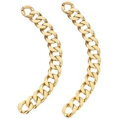 Cartier Gold Curb Link Bracelets Convertible to a Necklace, circa 1960