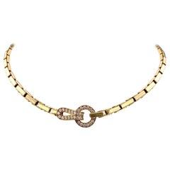 Cartier Gold Diamond Agrafe Necklace