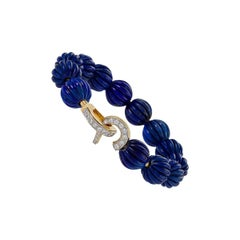Cartier Gold, Diamond and Lapis Lazuli Bracelet