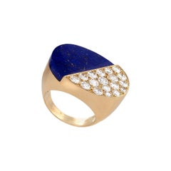 Cartier Gold, Diamond and Lapis Lazuli Cocktail Ring
