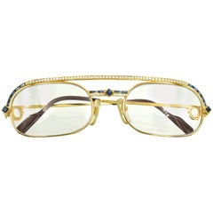 Cartier Gold, Diamond and Sapphire Eyeglasses, France