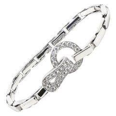 Cartier Gold Diamond Cartier Agrafe Bracelet