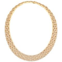 """Cartier Gold Diamond """"Maillon Panthère"""" Link Necklace"""
