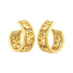 Cartier Gold Elephant Earrings