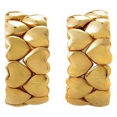 Cartier Gold Heart Huggie Earrings