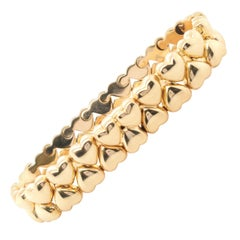 Cartier Gold Heart Link Bracelet