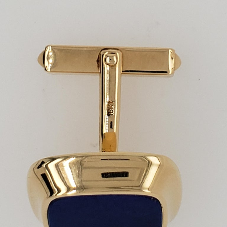 Retro Cartier Gold and Lapis Lazuli Cufflinks For Sale
