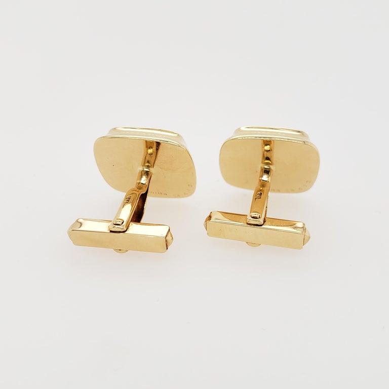 Women's or Men's Cartier Gold and Lapis Lazuli Cufflinks For Sale