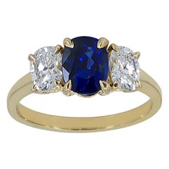 Cartier Gold Sapphire and Diamond Ring