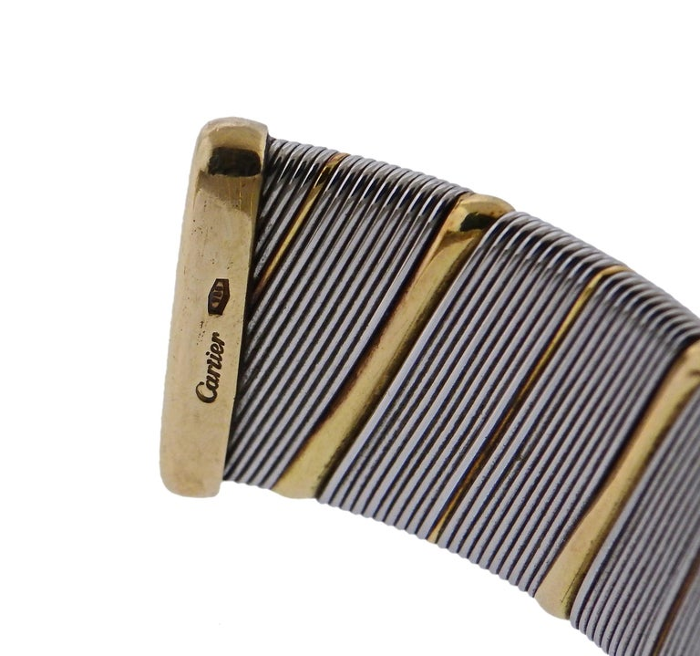 Women's or Men's Cartier Gold Stainless Steel Bracelet For Sale