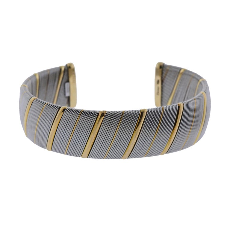 Cartier Gold Stainless Steel Bracelet For Sale
