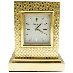 Cartier, Gold Travel Clock