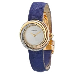 Cartier Gold Trinity Diamond Vintage Round Watch on a Leather Strap 2357